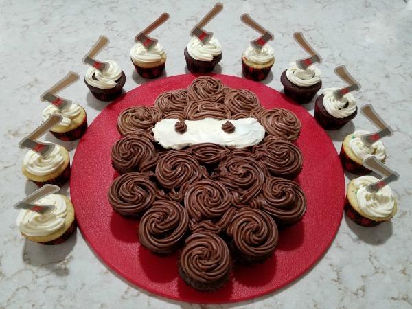 Lumberjack Cupcake Cake